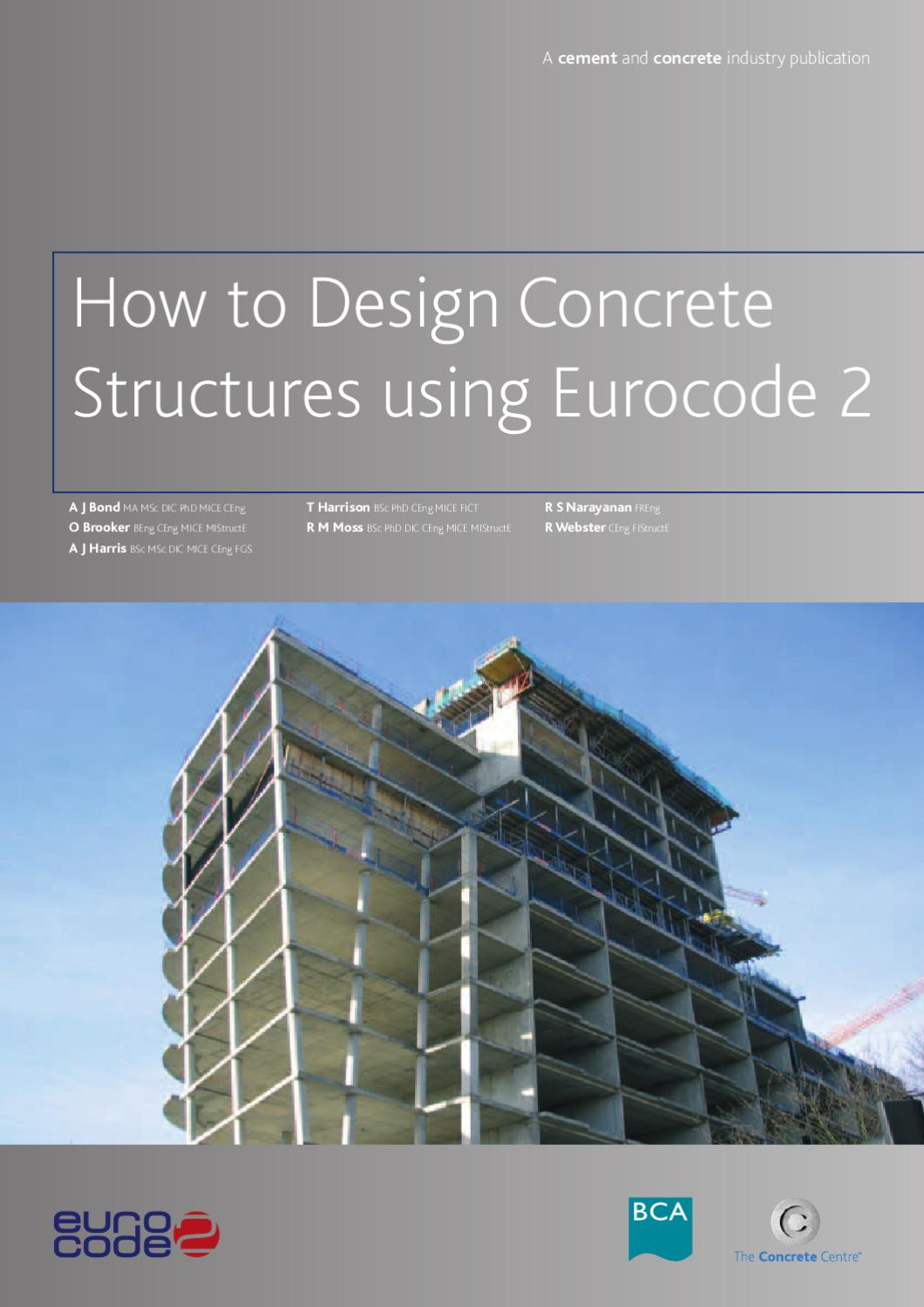 How to design concrete structures using eurocode 2 by for How to make designs in concrete