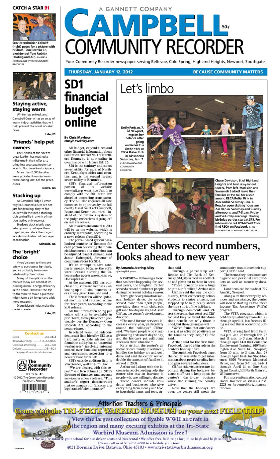 Campbell Community Recorder 011212 By Enquirer Media Issuu