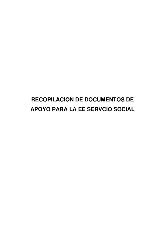 DOCUMENTOS DE APOYO PARA SERVICIO SOCIAL by Cristina Hortensia ...