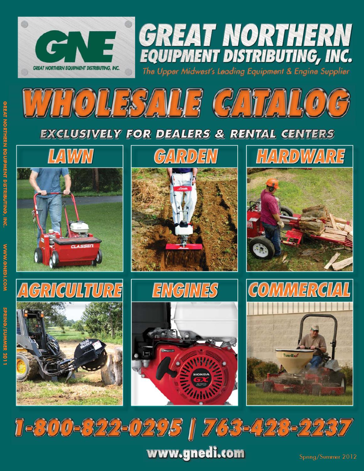 2012 Great Northern Equipment (GNE) Spring Catalog by Great