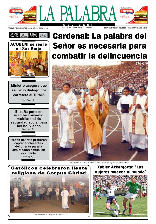 La Palabra del Beni, 24 de Junio de 2011 by La Palabra del Beni - issuu