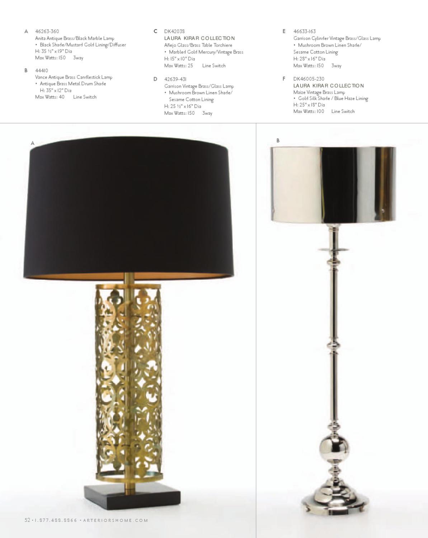 Arteriors 2012 Catalog By Issuu 3 Way Brass Light Switch