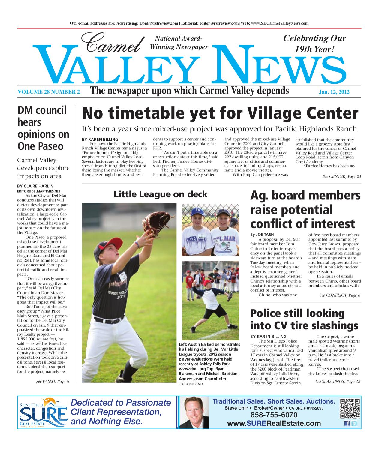 548915a26e087 1-12-2012 Carmel Valley News by MainStreet Media - issuu