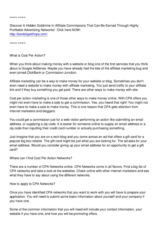 CPA Network Secrets by Mike Marini - issuu