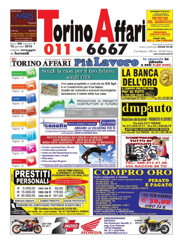0df8d314844f98 Torino Affari, edizione 01/2012 by Giuseppe Contegreco - issuu