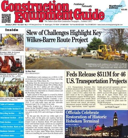 Northeast 1 2012 By Construction Equipment Guide Issuu
