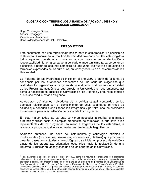 Glosario dise o curricular by ivonnestela martinez issuu for Diseno curricular de jardin maternal