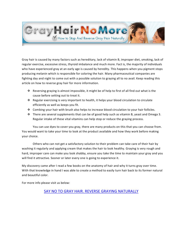 Premature Graying Hair By Allan Mccarthy Issuu