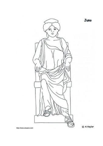 dioses romanos para colorear by juliana gomez