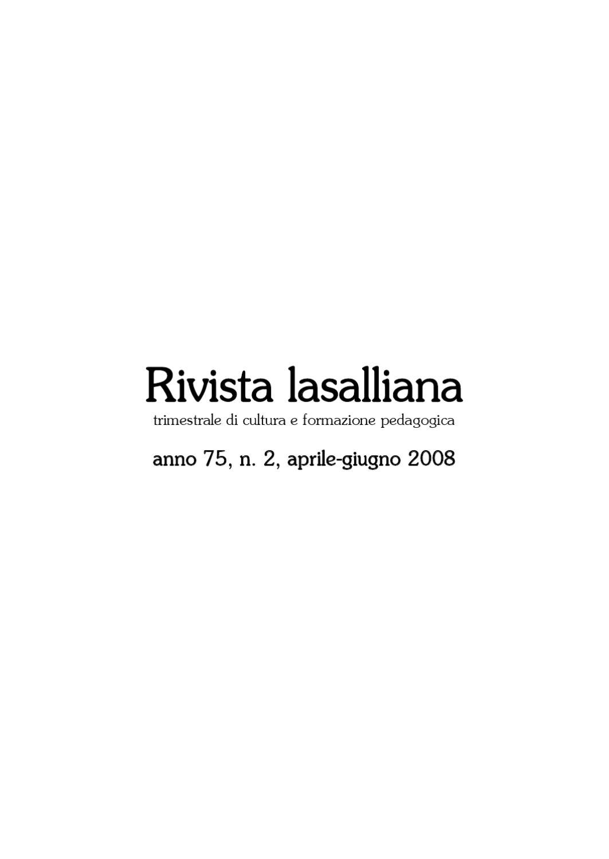 Rivista Lasalliana 2 2008 By Pentafoto Fotografia Issuu