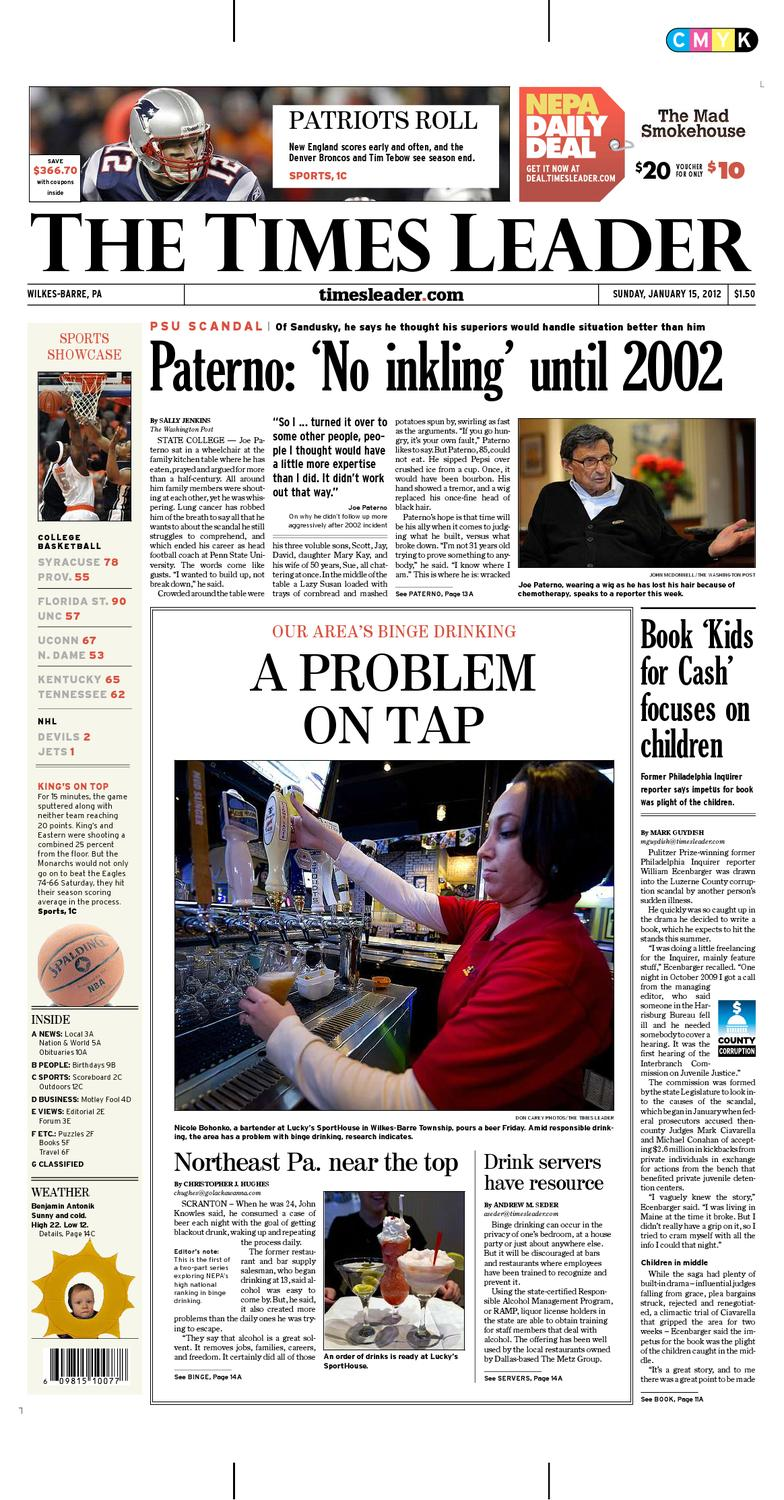 Times Leader 01-15-2012 by The Wilkes-Barre Publishing