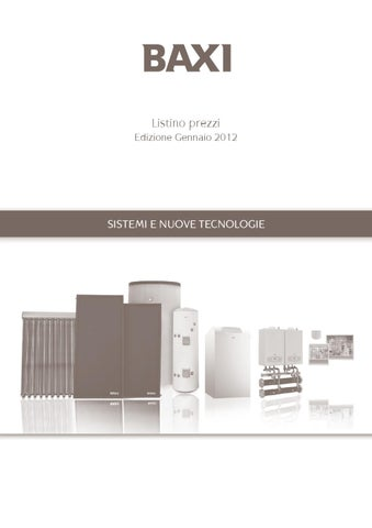 Listino Baxi Sistemi E Nuove Tecnologie Ed Gennaio 2012 By