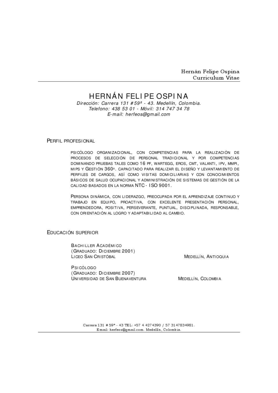 Currículo Felipe Ospina by Felipe Ospina - issuu