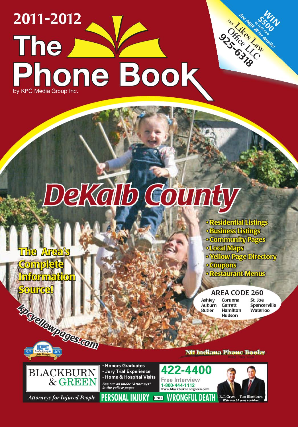 Dekalb County Phonebook 2011 By Kpc Media Group Issuu Electrical Wire With Staples Internachi Inspection Forum