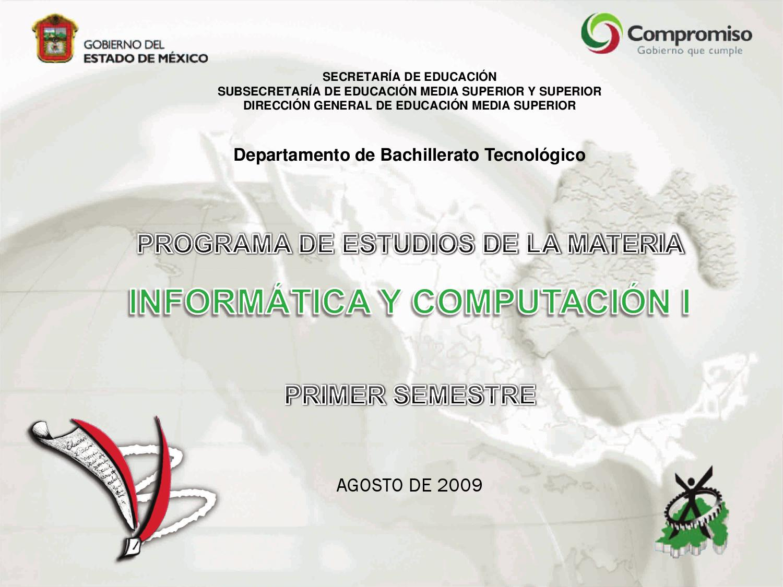 Programa de Informática y Computación III 3er Semestre by ...