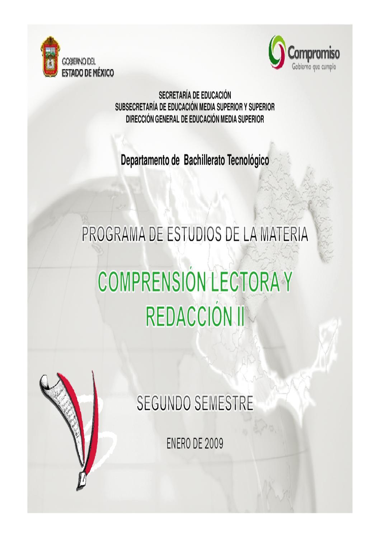 Programa de Comprensión Lectora y Redacción II 2do Semestre by ...