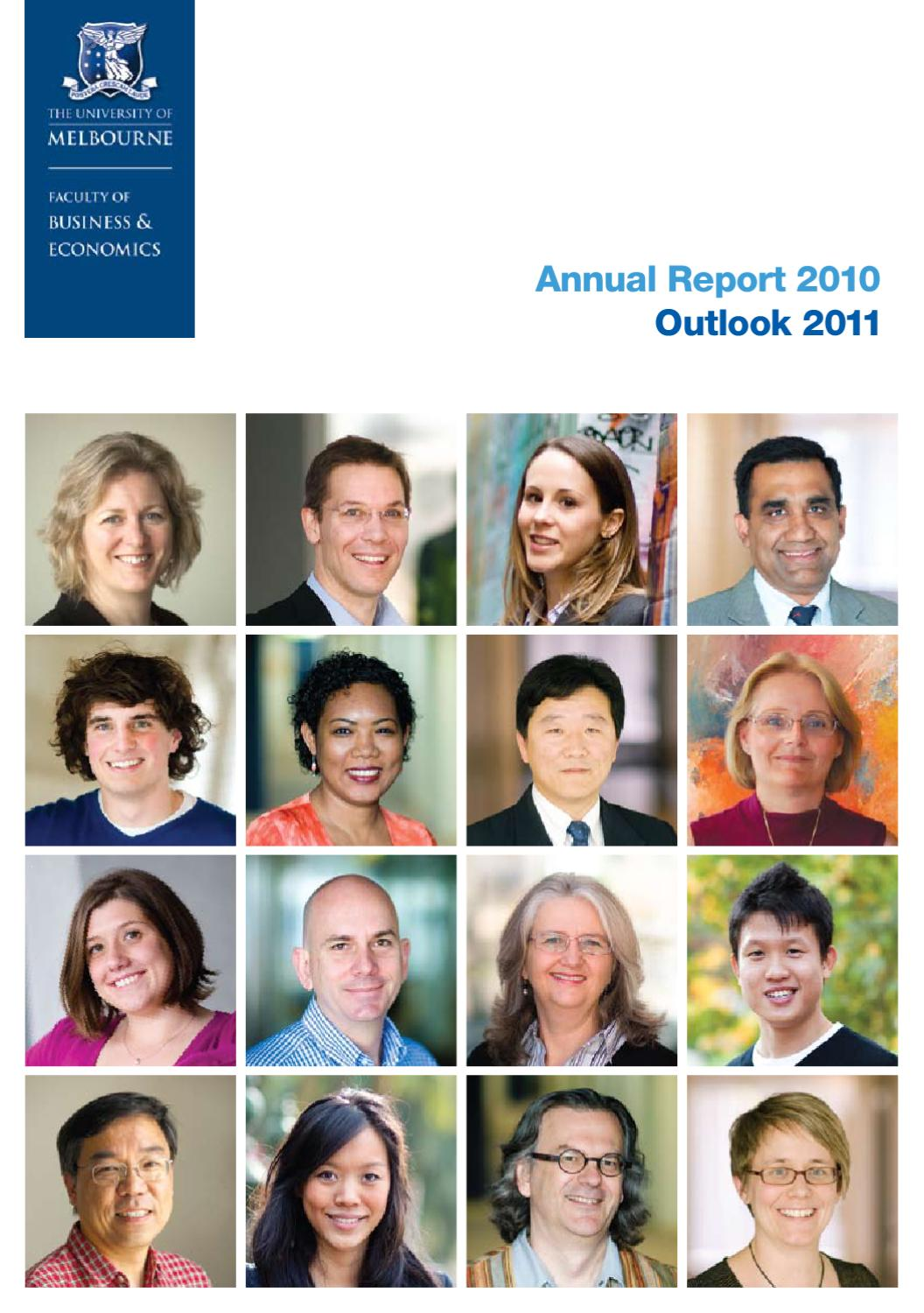 faculty of business economics annual report 2010 2011