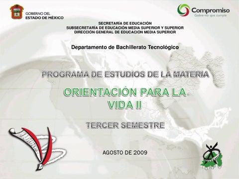 Programa de Orientación II 3er Semestre by Subdirección de ...