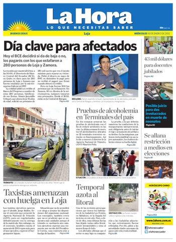 Diario Enero Ecuador By Loja La 18 Issuu De Hora 2012 mw0vnON8