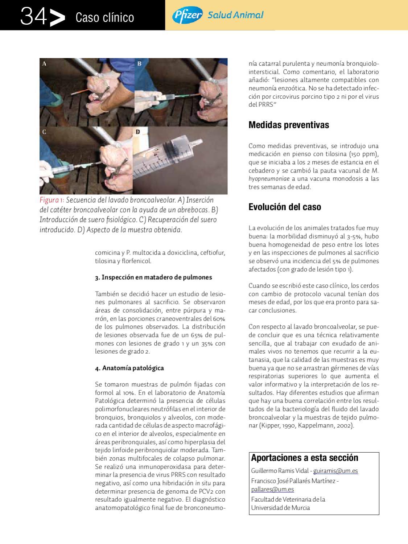 El lavado broncoalveolar como herramienta de diagnóstico Anaporc Nov ...