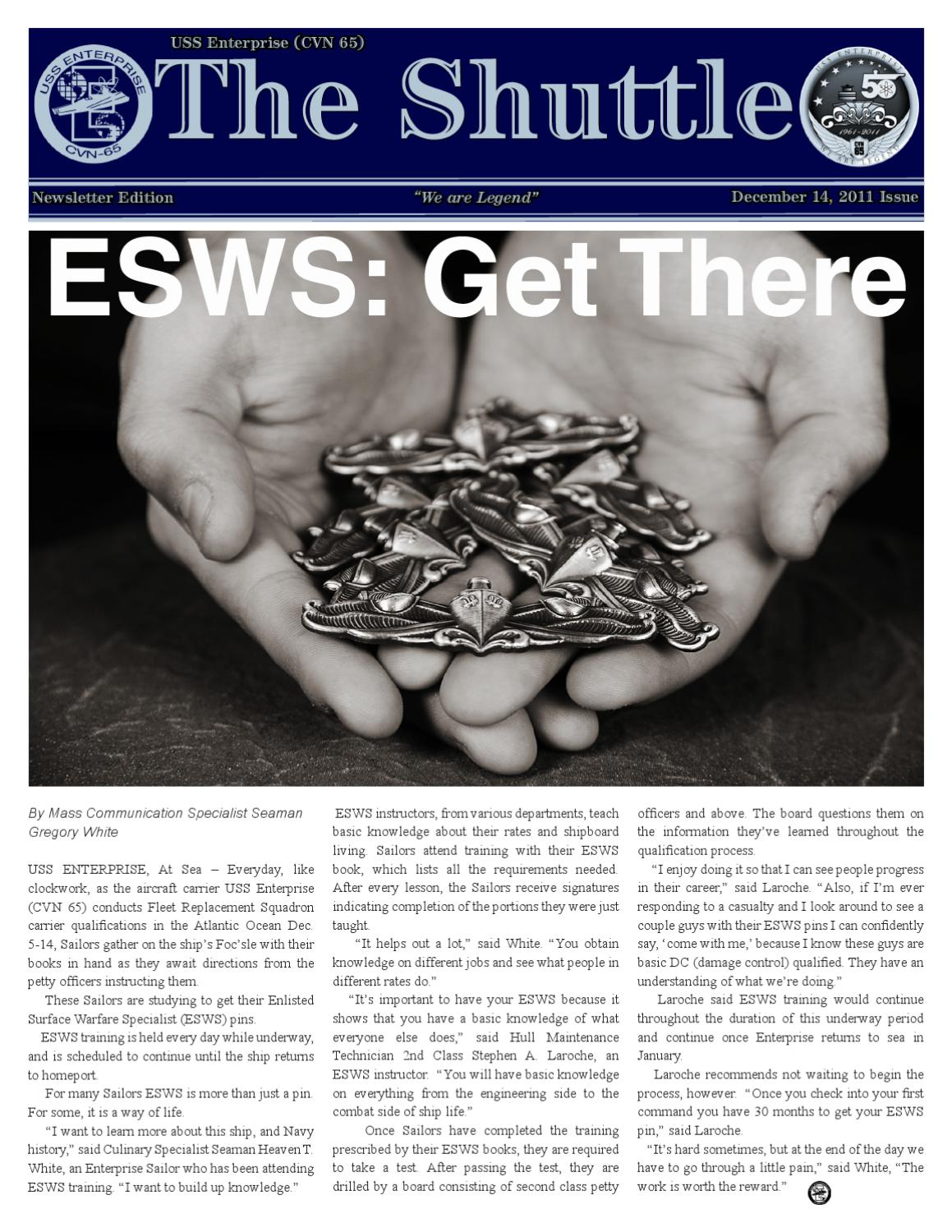 Enlisted Surface Warfare Specialist (ESWS) Study Guide