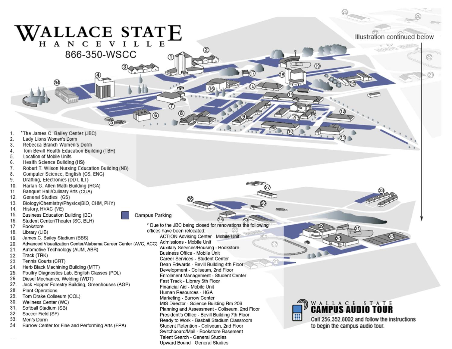 Campus Map by Wallace State Community College - issuu on map of washington state, map of richmond state, map of murray state, map of jackson state, map of idaho state, map of wright state, map of plymouth state, map of ball state, map of weber state, map of wayne state, map of chattanooga state,