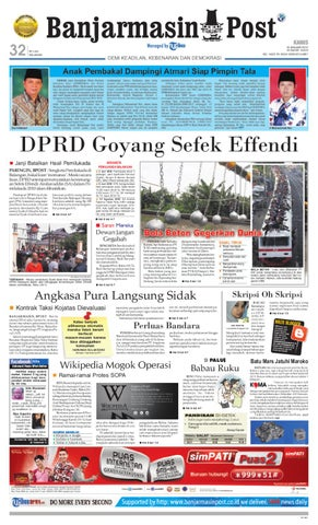 Banjarmasin Post edisi Kamis f10a2e0b5d