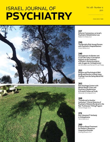israel journal of psychiatry and related sciences by MEDIC