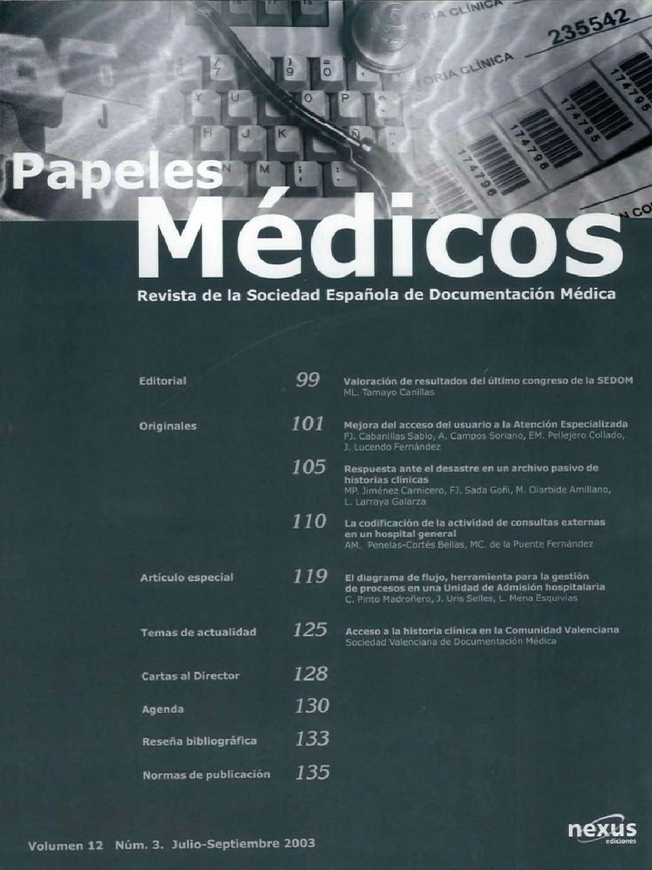 Papeles Médicos Volumen 12, número 3 by SEDOM web - issuu