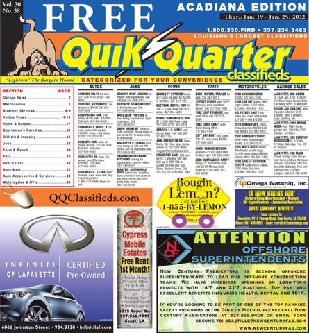 Qq acadiana by part of the usa today network issuu page 1 fandeluxe Images