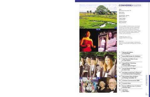 78951a2ac4d1 Converse Magazine Summer 2004 by Converse College - issuu