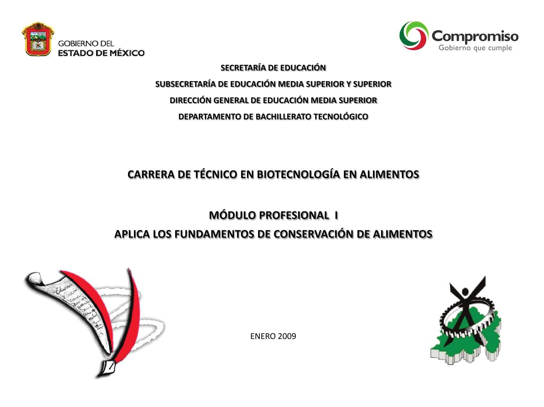 Técnico en Biotecnología en Alimentos Modulo I by Subdirección de ...
