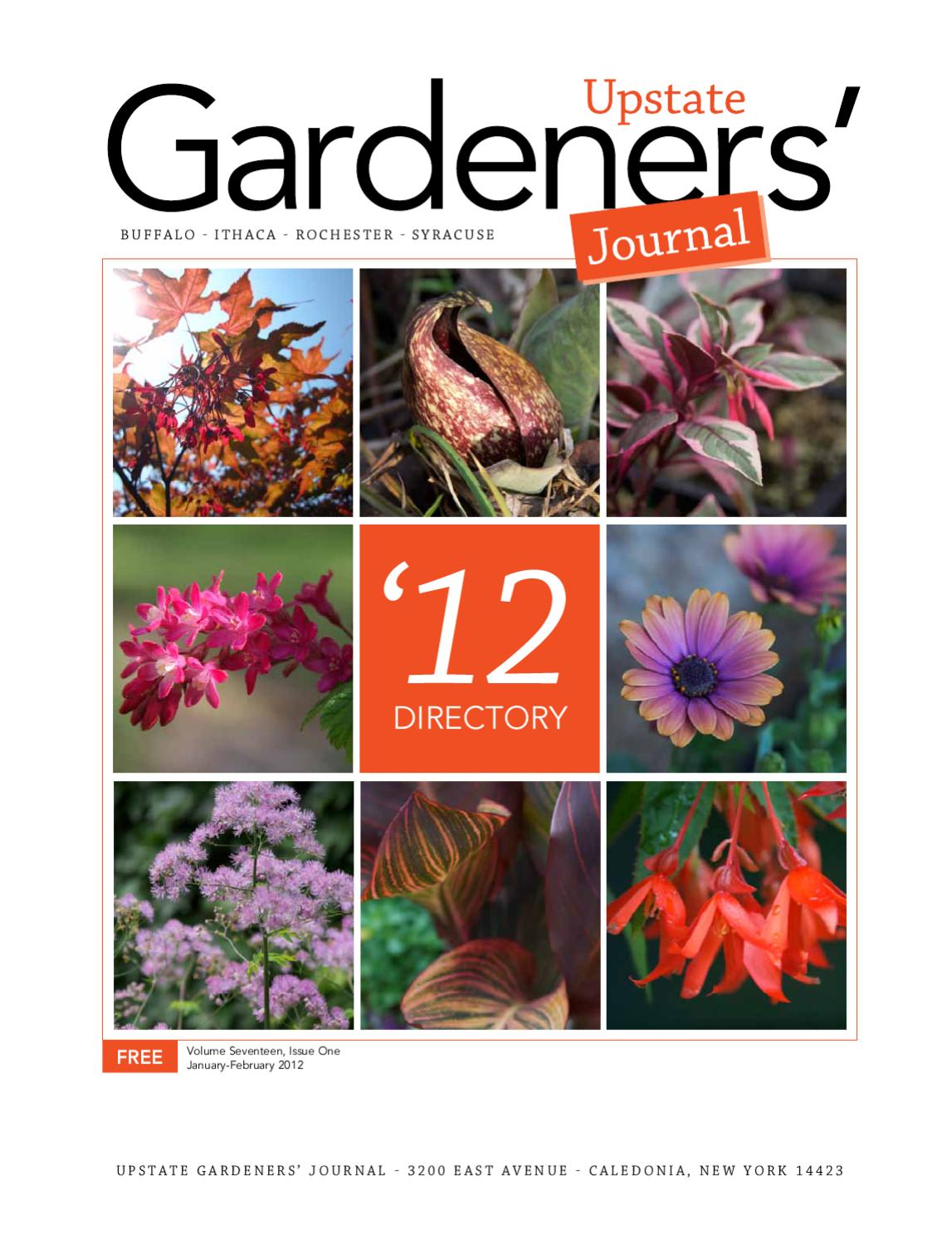 2012 Upstate Gardeners Journal Directory By