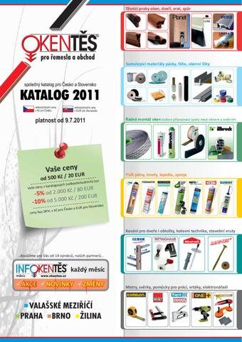 1473722b9a4 OKENTĚS Katalog 2011 by OKENTĚS