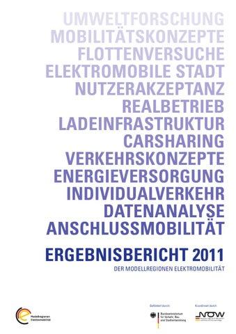 Ergebnisbericht 2011 der Modellregionen Elektromobilität by ...