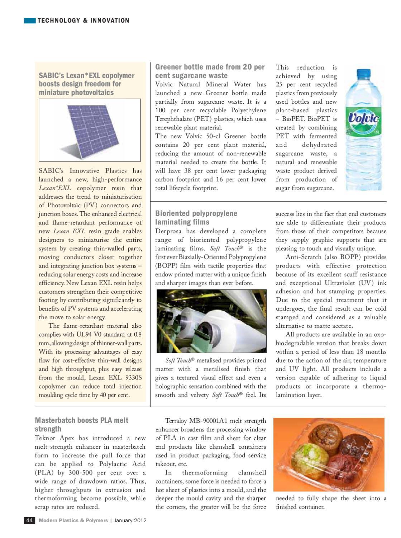 Modern Plastics & Polymers - January 2012 by Infomedia18 - issuu