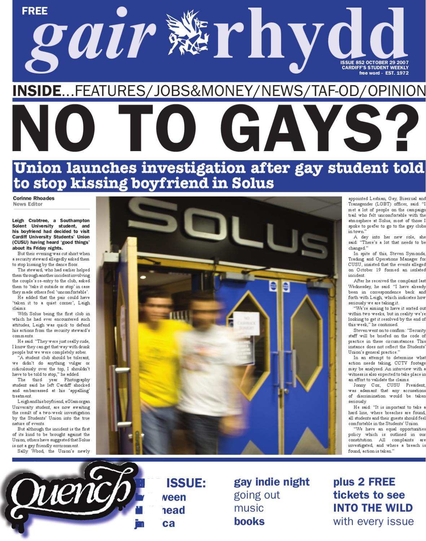 gair rhydd Issue 852 by Cardiff Student Media issuu