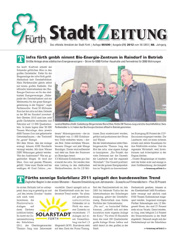 StadtZeitung, Nr. 01, vom 18. Januar 2012 by Christian Scharvogel ...