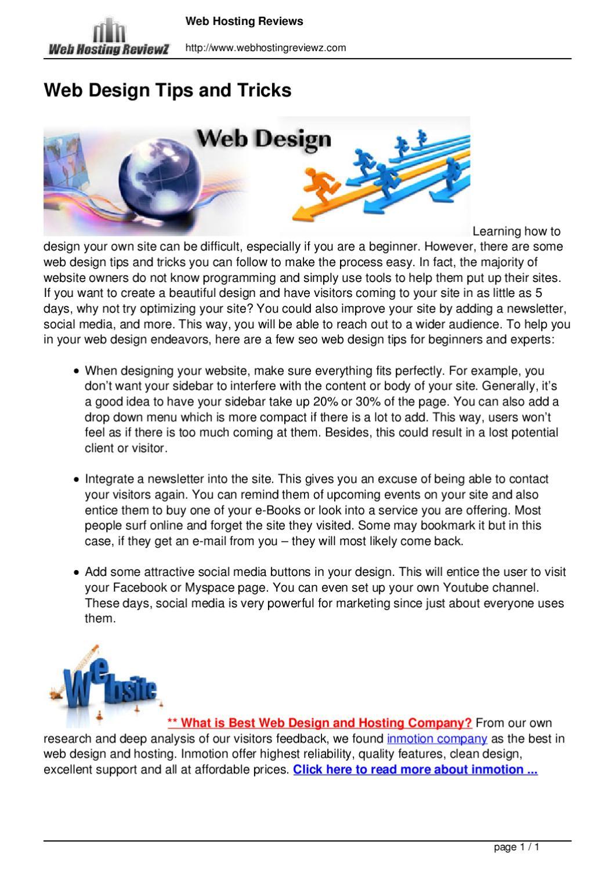 Web Design Tips Tricks By Sarah Brad Issuu