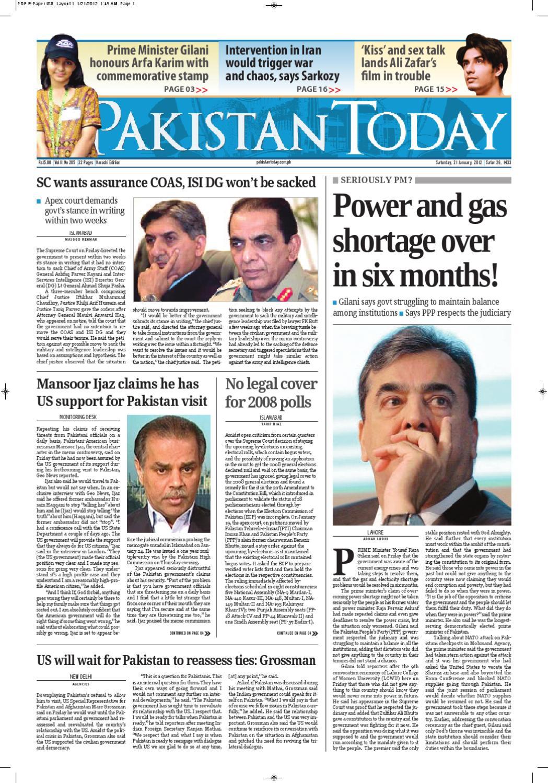 Epaper PakistanToday 21st Jnuary,2012