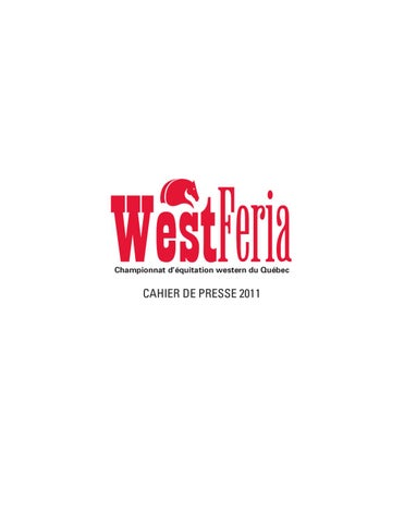 Cahier De Presse West Feria 2011 By Fdration Questre Du Qubec