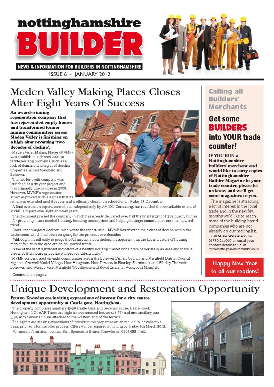 foto de January 2012 Nottinghamshire Builder Magazine by Michael Wilkinson ...