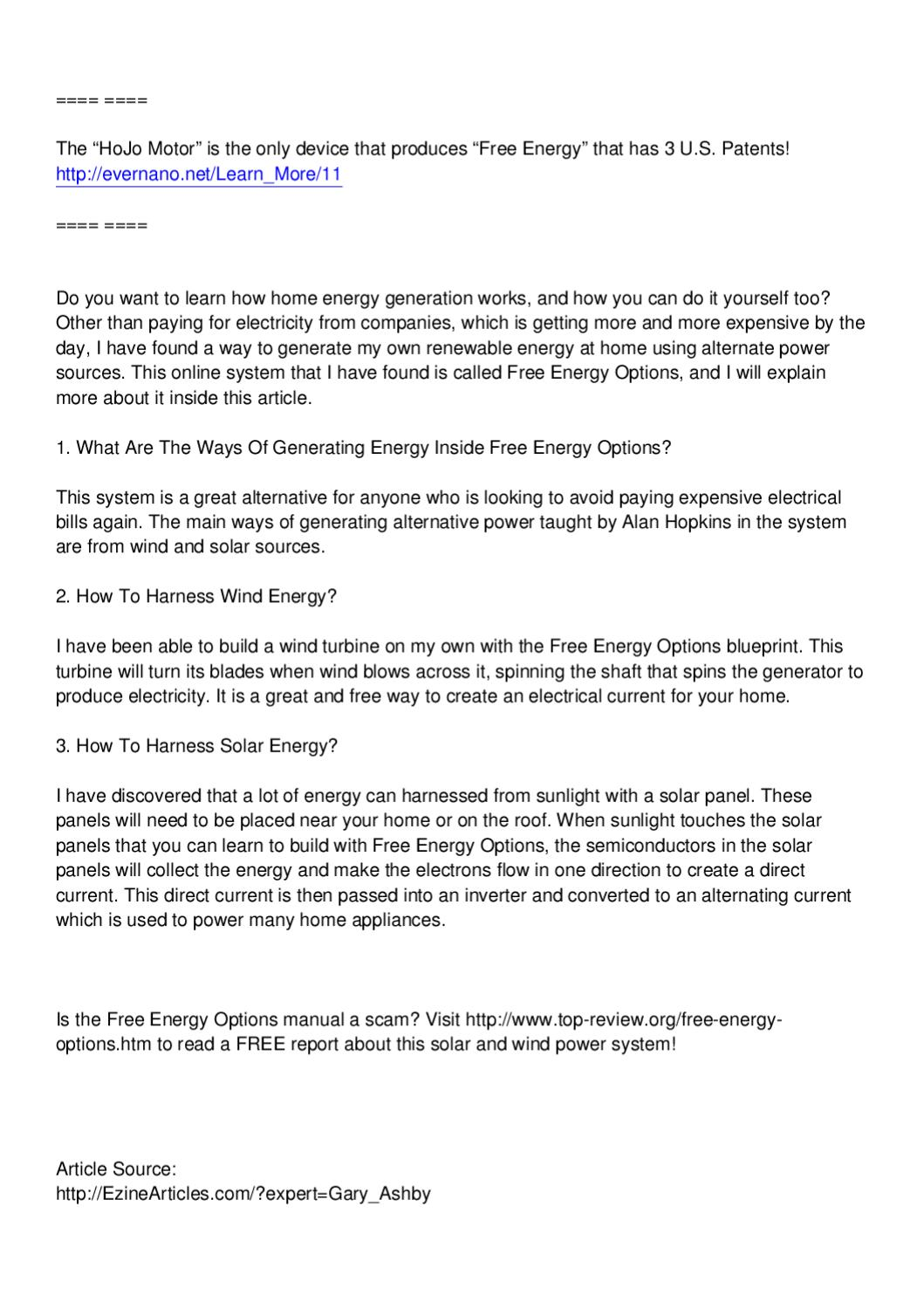 Free energy options review how does home energy generation work by free energy options review how does home energy generation work by vance c issuu solutioingenieria