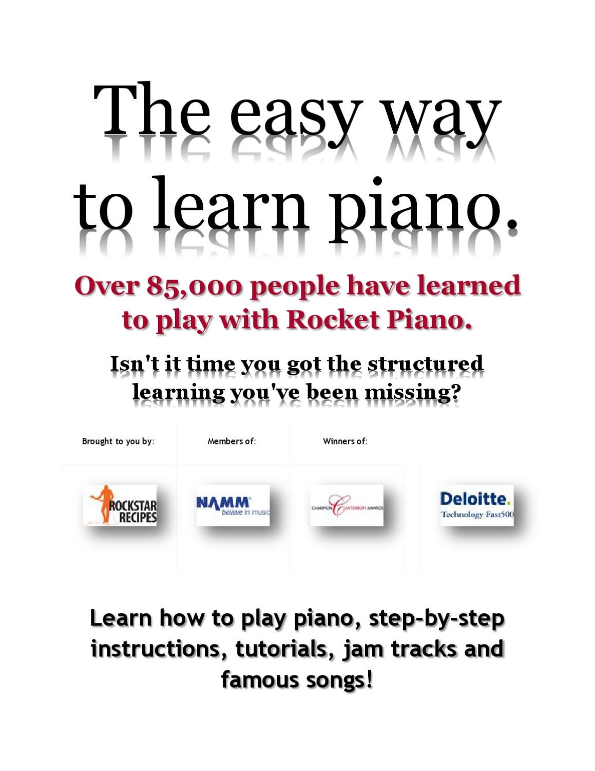 Learn Piano Online - Step-by-Step Guide to Teach & Play ...