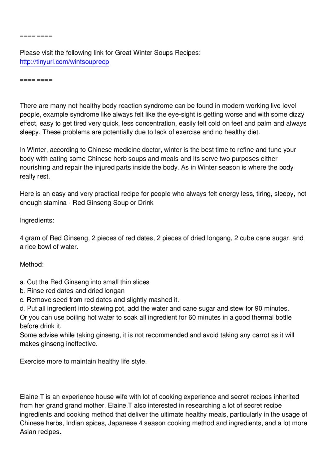 Winter Soup Recipe For Busy Working People by Ramesh