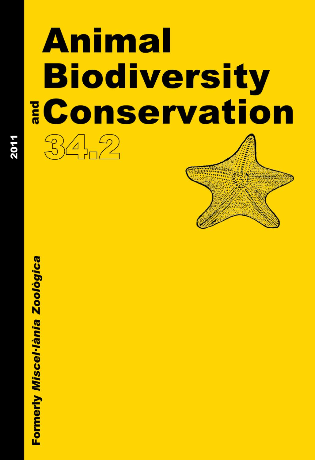 Animal Biodiversity and Conservation issue 34.2 (2011) by Museu ...