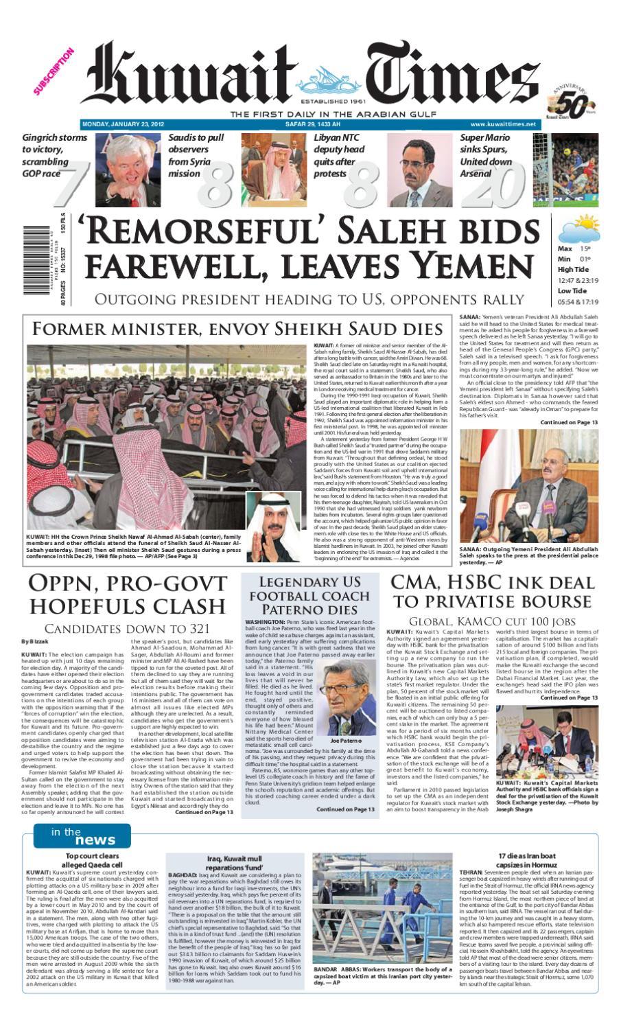 23 Jan 2012 by Kuwait Times - issuu