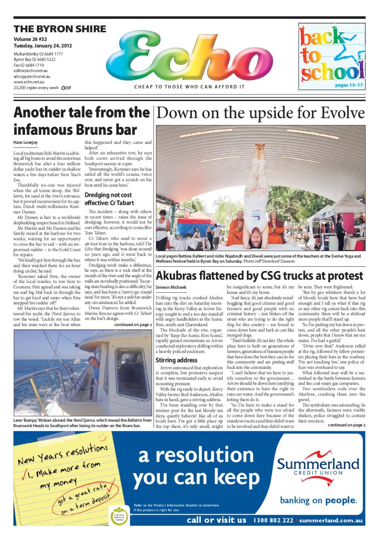 fb46cbc8a9a9c Byron Shire Echo – Issue 26.32 – 24 01 2012 by Echo Publications - issuu