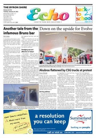 Byron Shire Echo – Issue 26 32 – 24/01/2012 by Echo