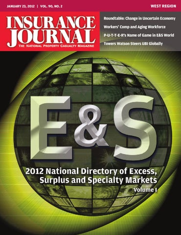 Excess, Surplus & Specialty Markets Directory Vol  I by